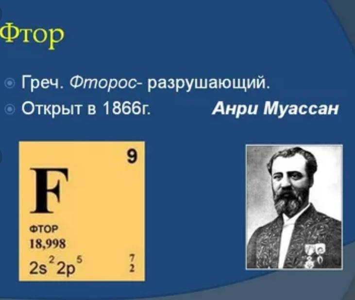 Химия фтора
